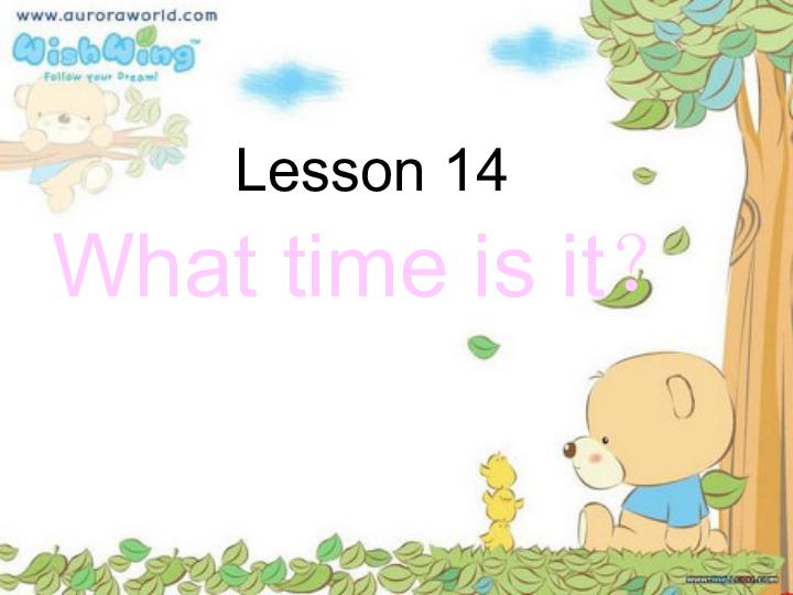 英语四年级下冀教版 三起 Lesson 14 What Time Is It