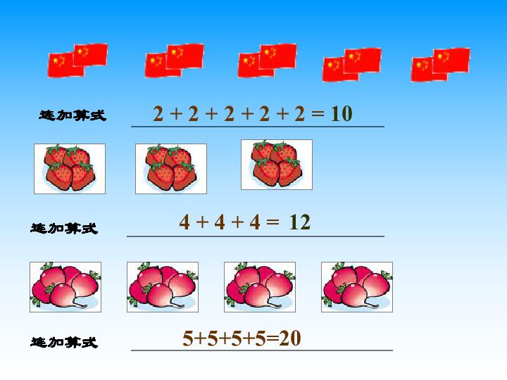 青岛版 二年级数学上册 乘法的初步认识 教学课件