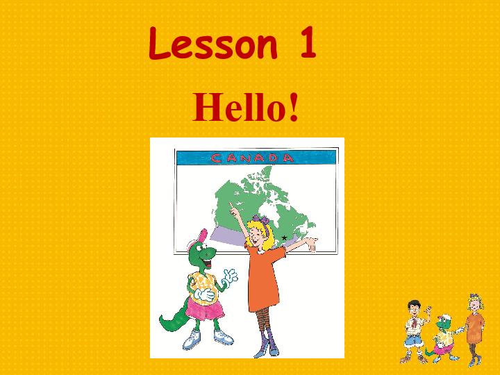 冀教版新版 三起 英语三年级上册优秀课件 Lesson 1 Hello 11张PPT