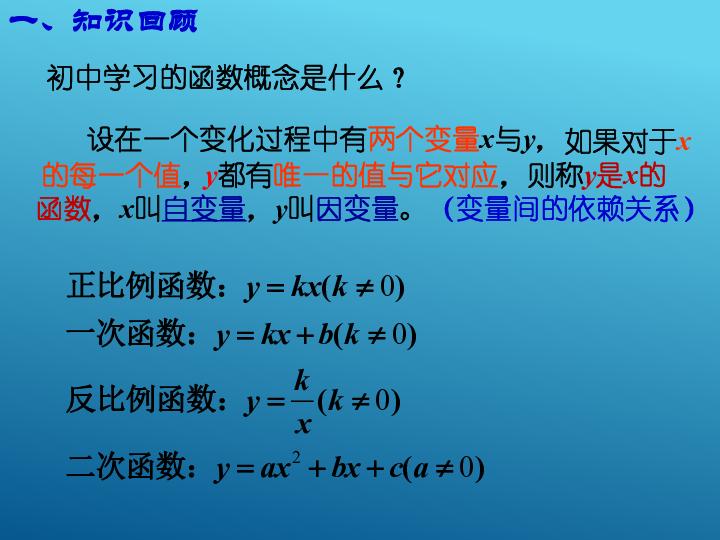 1.2.1 函数的概念 38张ppt