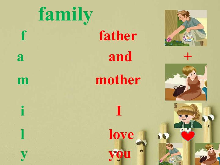 myfamily英语海报