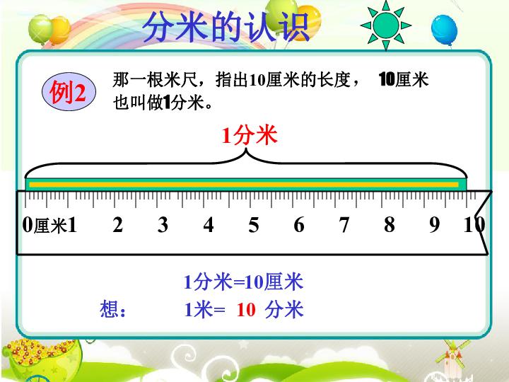 数学三年级上人教版3毫米 分米的认识课件 共18张PPT