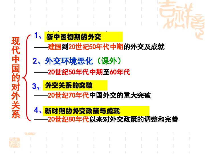 新中国初期的外交 22张ppt