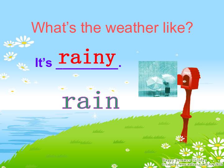 人教PEP版小学英语六年级上册 unit 6 the story of rain Part A PPT课件