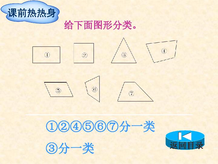 人教版小学四年级数学上 5 平行四边形和梯形