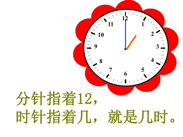 数学一年级上人教版 认识钟表 课件 共20张PPT