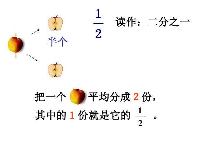 青岛版 三年级数学上册PPT课件 6.1分数的初步认识