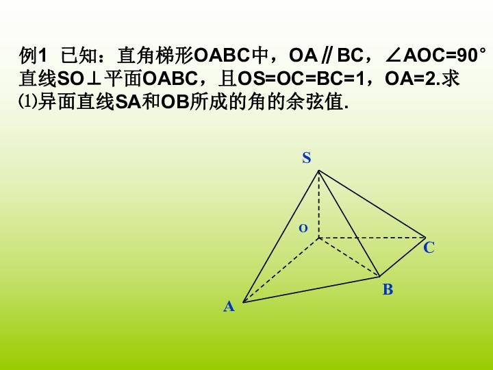 吉林一中多媒体教育教学评比数学人教选修2 1 321立体几何中的向量方法 三 课件 共19张PPT