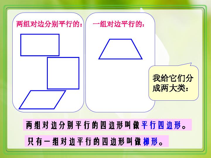 人教版小学四年级数学上 5 平行四边形和梯形 课件1