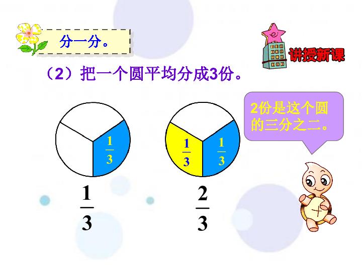 苏教版数学三年级上册7分数的初步认识 认识几分之几 共54张ppt