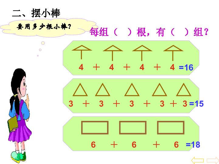 二上 乘法的初步认识教学ppt