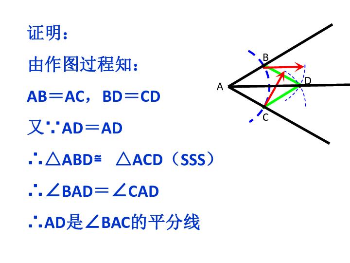 尺规作图 做已知角的平分线课件 共11张幻灯片