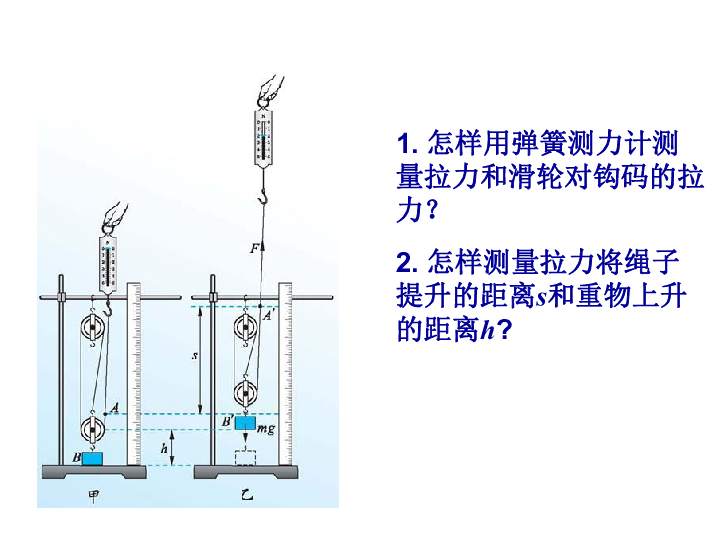 北师大版物理八年级下册第九章第六节9.6 滑轮组的机械效率课件 14张ppt