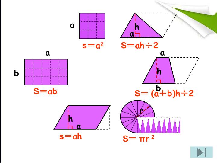 平面图形的面积
