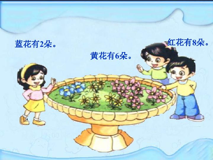 倍的认识蓝花有2朵.黄花有6朵.