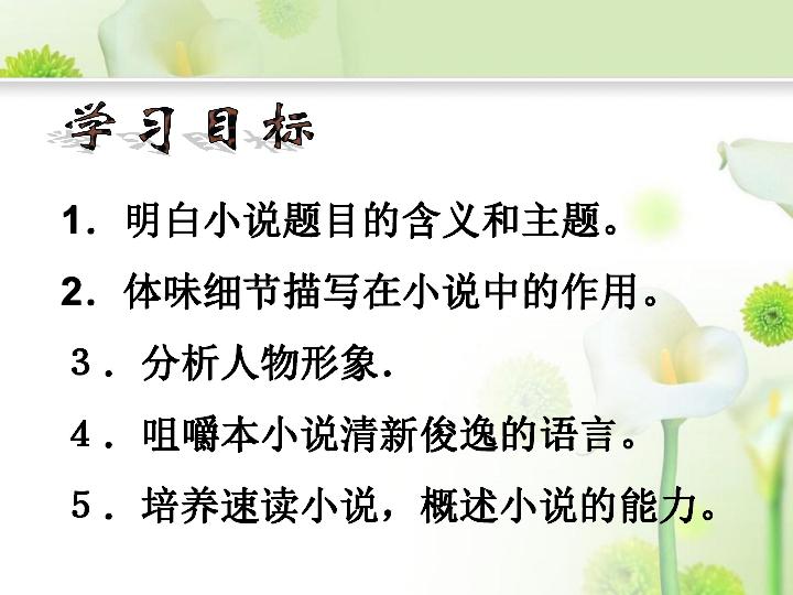 语文版九下 第15课 百合花课件 21张ppt