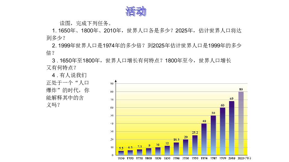 世界的人口教案_第一节 世界的人口教案