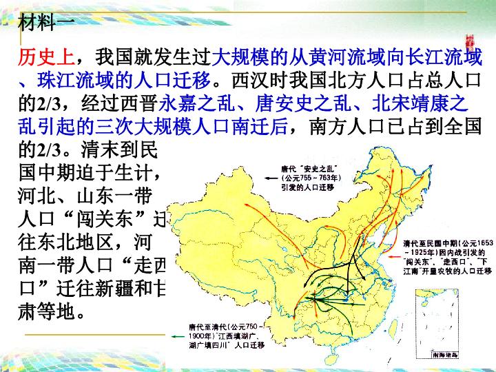 国内人口迁移_人口的空间变化 教学设计