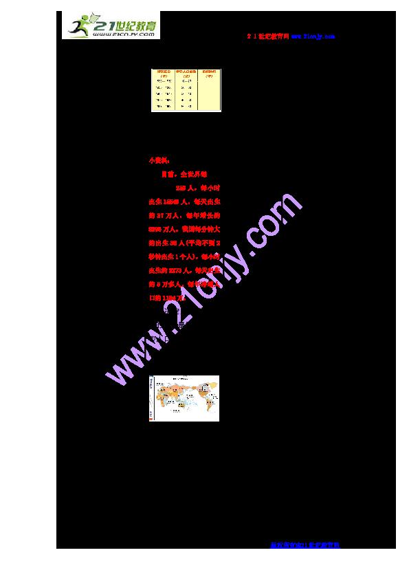 世界的人口分布的教学设计_世界人口分布