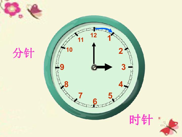 青岛版数学一年级下册认识钟表课件