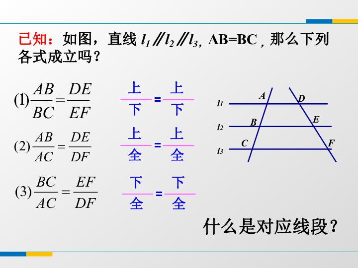 4.2由平行线截得的比例线段课件 共16张PPT