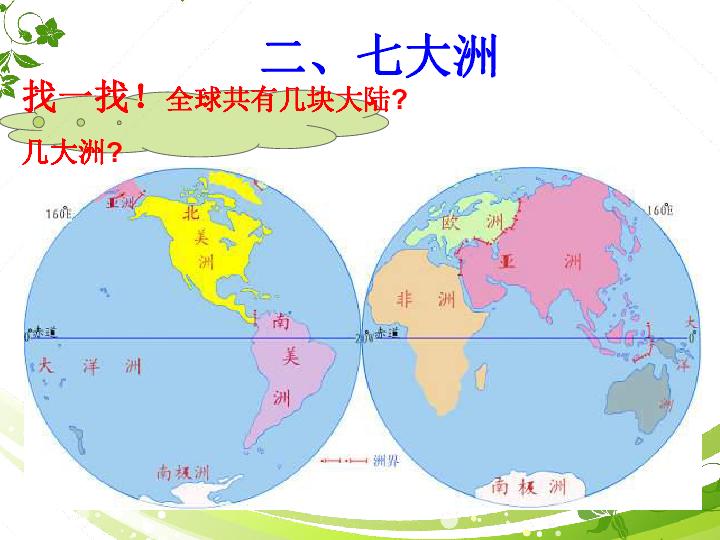 上海教育版地理六下 全球海陆分布 ppt课件