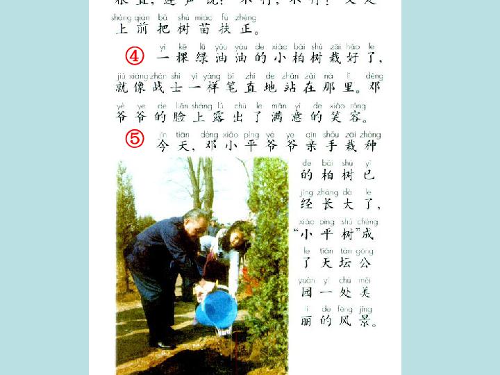 语文二年级下人教版 新疆专用 1.3 邓小平爷爷植树 课件 42张