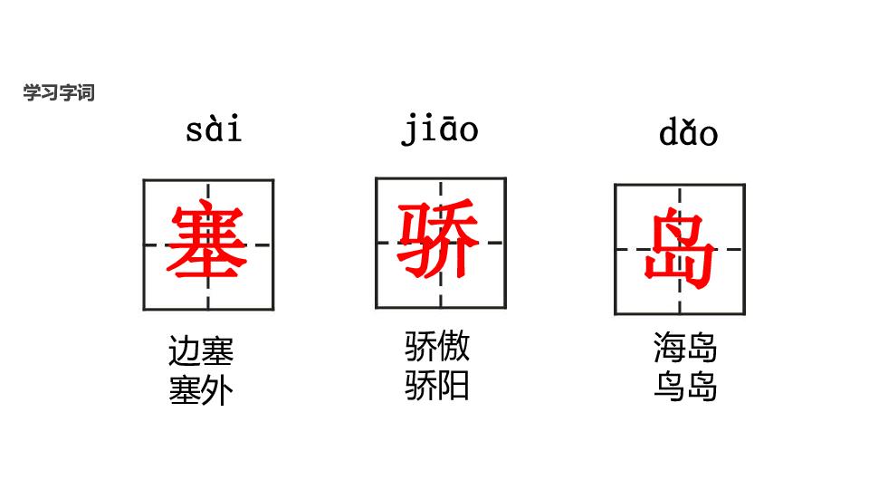 3个生字,能按笔顺把字写得端 正、美观. 2.能有顺序地观察图画,认